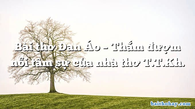 Bài thơ Đan Áo – Thắm đượm nỗi tâm sự của nhà thơ T.T.Kh.