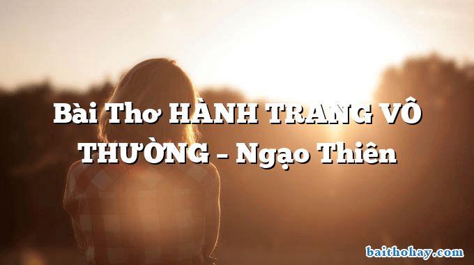 bai tho hanh trang vo thuong ngao thien - Nặn đồ chơi - Nguyễn Ngọc Ký
