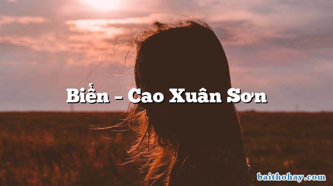 bien cao xuan son - Cả nhà đi học - Cao Xuân Sơn