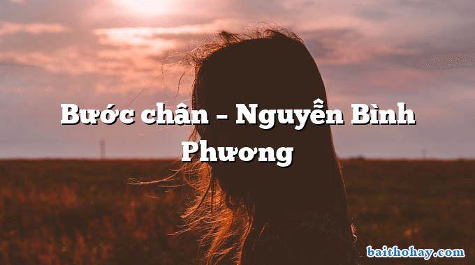 Bước chân  –  Nguyễn Bình Phương