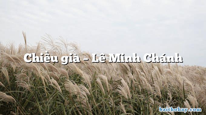 Chiều già  –  Lê Minh Chánh