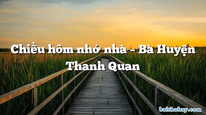 chieu hom nho nha ba huyen thanh quan - Con gái thôn quê - Huỳnh Lâm Phong