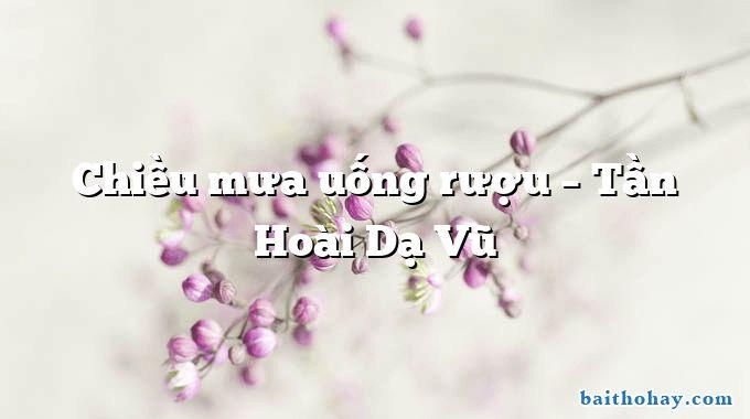 Chiều mưa uống rượu  –  Tần Hoài Dạ Vũ