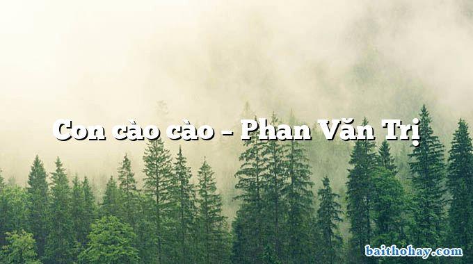 Con cào cào – Phan Văn Trị