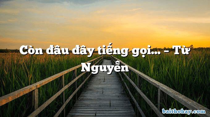 Còn đâu đây tiếng gọi… – Từ Nguyễn
