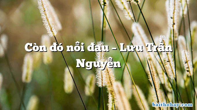 Còn đó nỗi đau  –  Lưu Trần Nguyễn