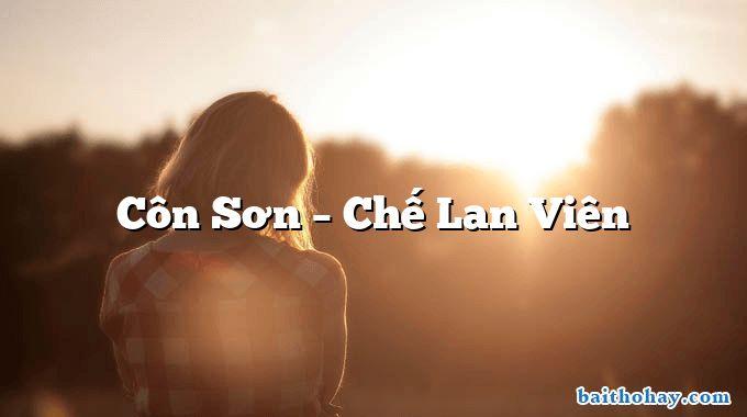 Côn Sơn – Chế Lan Viên
