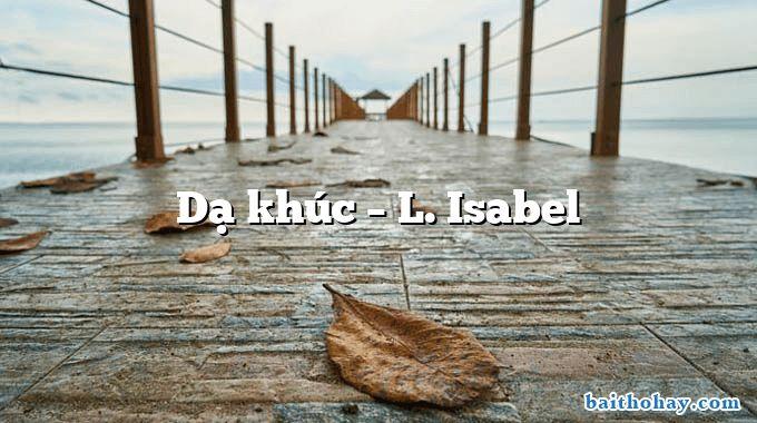 Dạ khúc  –  L. Isabel