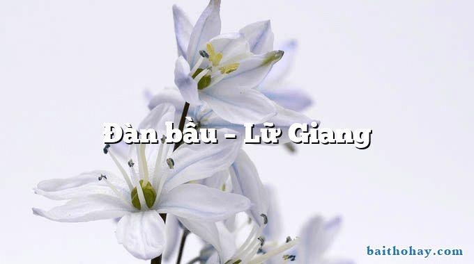 Đàn bầu  –  Lữ Giang