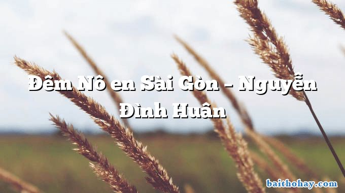 Đêm Nô en Sài Gòn – Nguyễn Đình Huân