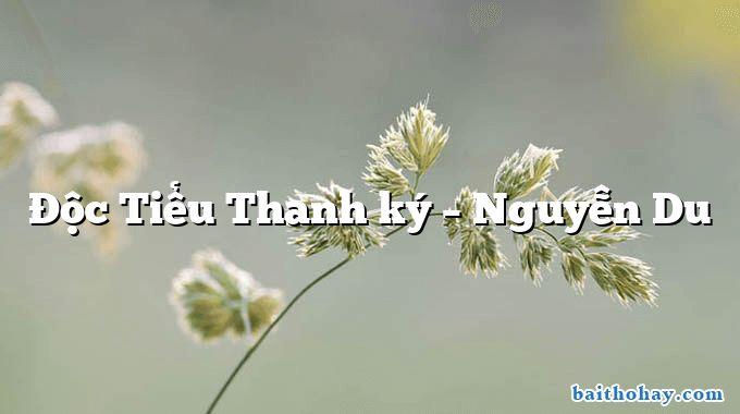 Độc Tiểu Thanh ký – Nguyễn Du