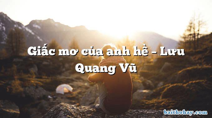 Giấc mơ của anh hề  –  Lưu Quang Vũ