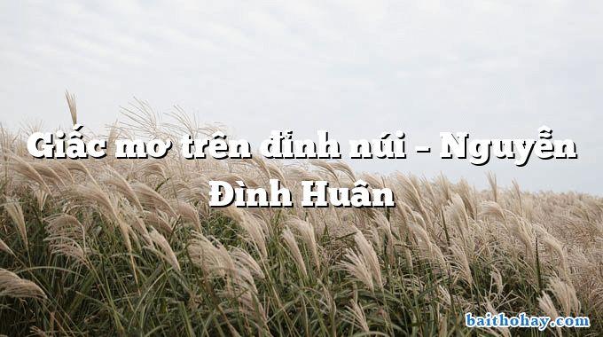 Giấc mơ trên đỉnh núi – Nguyễn Đình Huân
