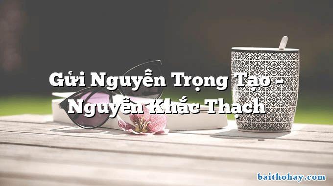 Gửi Nguyễn Trọng Tạo  –  Nguyễn Khắc Thạch