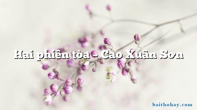 Hai phiên tòa  –  Cao Xuân Sơn