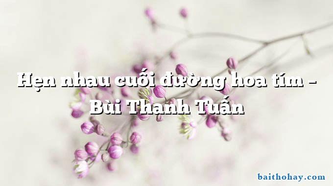 Hẹn nhau cuối đường hoa tím  –  Bùi Thanh Tuấn