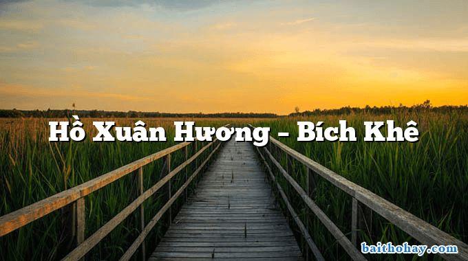 ho xuan huong bich khe - Đánh đu - Hỗ Xuân Hương