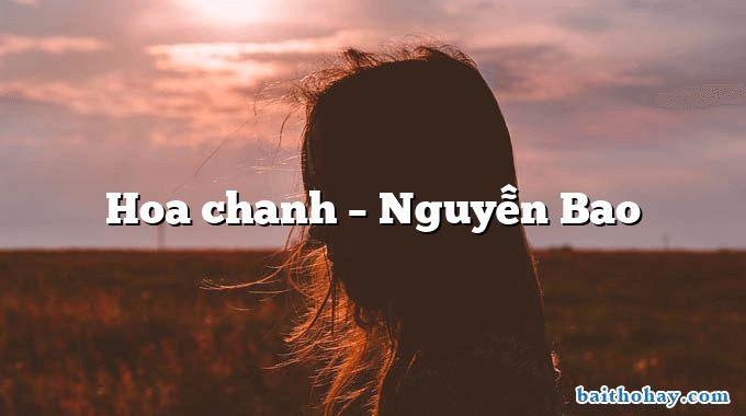 Hoa chanh  –  Nguyễn Bao