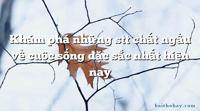 kham pha nhung stt chat ngau ve cuoc song dac sac nhat hien nay - Lại say - Tản Đà