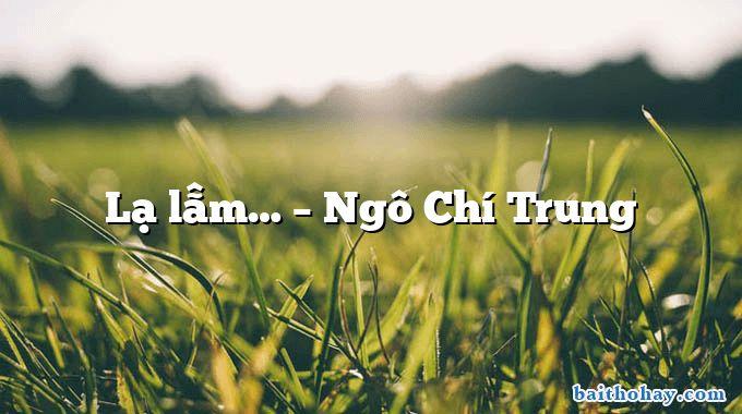 Lạ lẫm… – Ngô Chí Trung