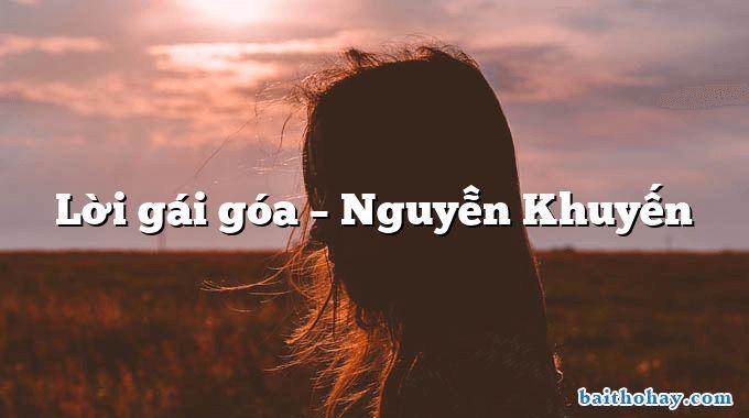Lời gái góa – Nguyễn Khuyến
