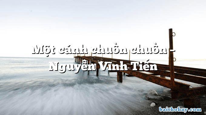 Một cánh chuồn chuồn  –  Nguyễn Vĩnh Tiến