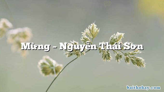 Mừng  –  Nguyễn Thái Sơn