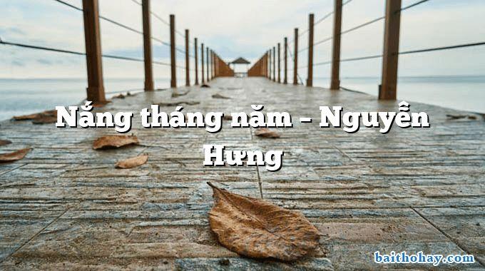 Nắng tháng năm – Nguyễn Hưng