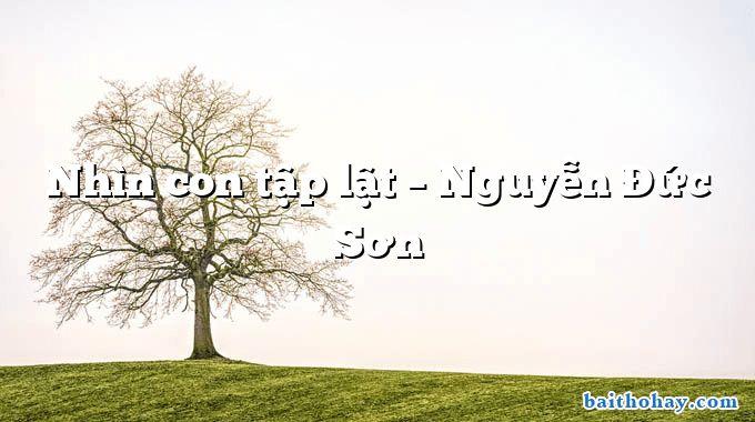 Nhìn con tập lật  –  Nguyễn Đức Sơn