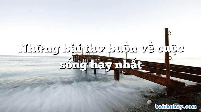 Những bài thơ buồn về cuộc sống hay nhất