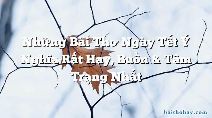 nhung bai tho ngay tet y nghia rat hay buon tam trang nhat - Dại khờ - Xuân Diệu