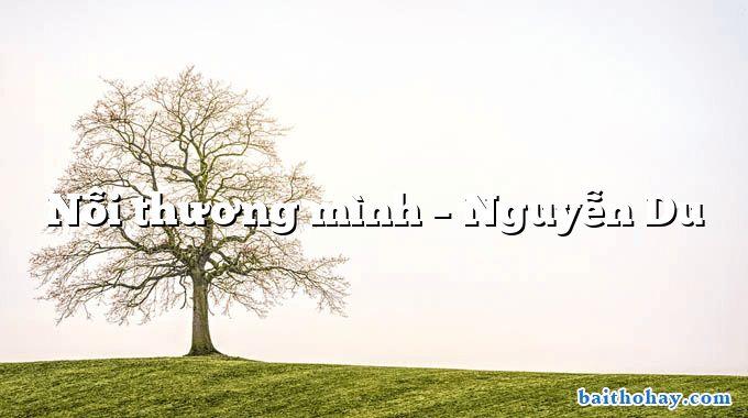 Nỗi thương mình – Nguyễn Du