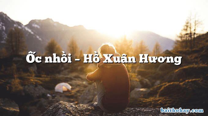 Ốc nhồi – Hồ Xuân Hương