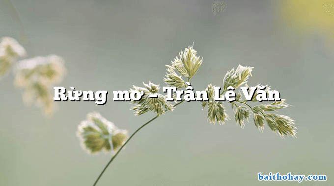 Rừng mơ – Trần Lê Văn