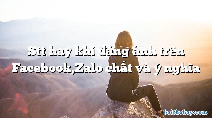 stt hay khi dang anh tren facebookzalo chat va y nghia - Chú thợ điện - Vương Trọng