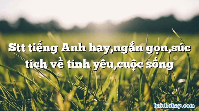 stt tieng anh hayngan gonsuc tich ve tinh yeucuoc song - Mẹ - Trần Quốc Minh