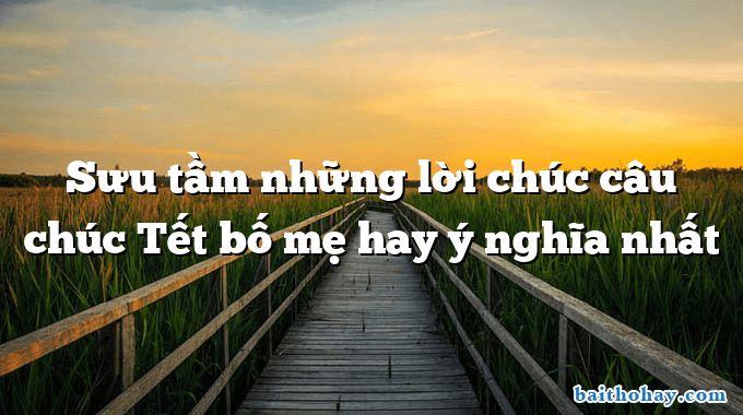 suu tam nhung loi chuc cau chuc tet bo me hay y nghia nhat - Mẹ đi làm (Yêu mẹ) - Nguyễn Bao