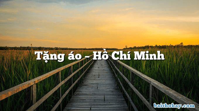 Tặng áo – Hồ Chí Minh