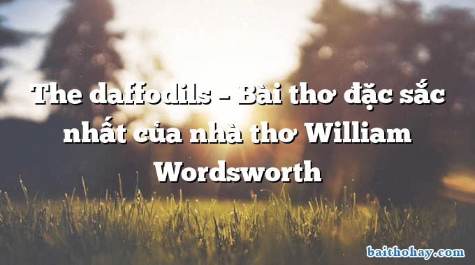 The daffodils – Bài thơ đặc sắc nhất của nhà thơ William Wordsworth
