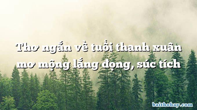tho ngan ve tuoi thanh xuan mo mong lang dong suc tich - Ở đây, thôi ở đây đành - Trịnh Cung