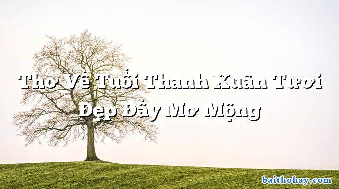 tho ve tuoi thanh xuan tuoi dep day mo mong - Chí khí anh hùng - Nguyễn Du
