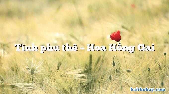 Tình phu thê – Hoa Hồng Gai