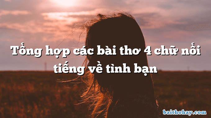 tong hop cac bai tho 4 chu noi tieng ve tinh ban - Mẹ - Trần Quốc Minh