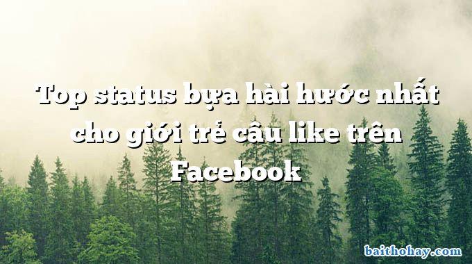 Top status bựa hài hước nhất cho giới trẻ câu like trên Facebook