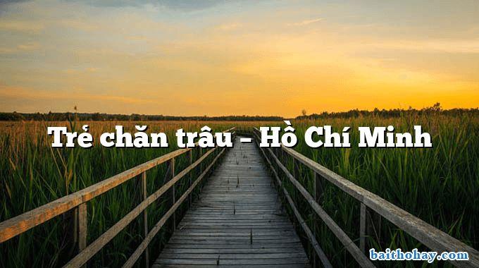Trẻ chăn trâu – Hồ Chí Minh