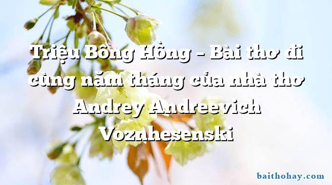 trieu bong hong bai tho di cung nam thang cua nha tho andrey andreevich voznhesenski - Tí xíu - Ngô Văn Phú