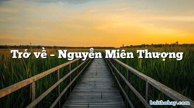 Trở về  –  Nguyễn Miên Thượng