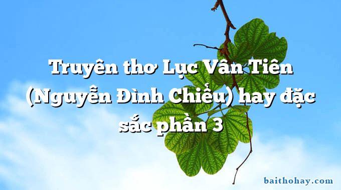 Truyên thơ Lục Vân Tiên (Nguyễn Đình Chiểu) hay đặc sắc phần 3