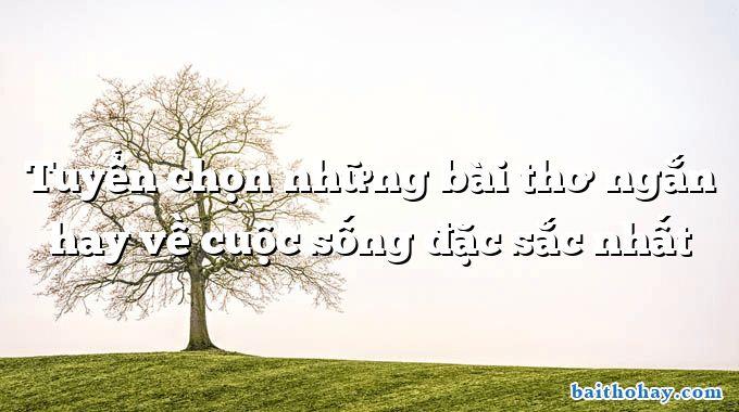Tuyển chọn những bài thơ ngắn hay về cuộc sống đặc sắc nhất