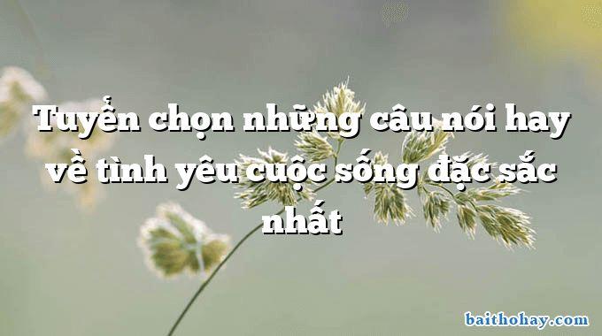 tuyen chon nhung cau noi hay ve tinh yeu cuoc song dac sac nhat - Đi học - Minh Chính